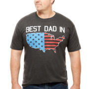 Bioworld® Short-Sleeve Best Dad In America Tee - Big & Tall