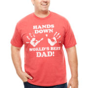 Bioworld® Short-Sleeve Best Dad Hands Down Tee - Big & Tall