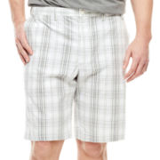 IZOD® Plaid Cotton Shorts - Big & Tall