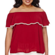 Arizona Short-Sleeve Senorita Top - Juniors Plus