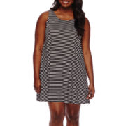 Arizona Sleeveless Swing Dress - Juniors Plus