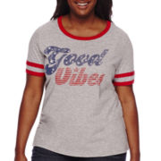 Arizona Short-Sleeve Ringer Tee - Juniors Plus
