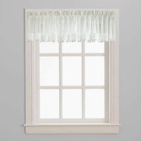Ashlyn Voile Rod-Pocket Window Valance