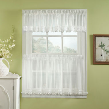 jcpenney.com | Ashlyn Voile Rod-Pocket Kitchen Curtains