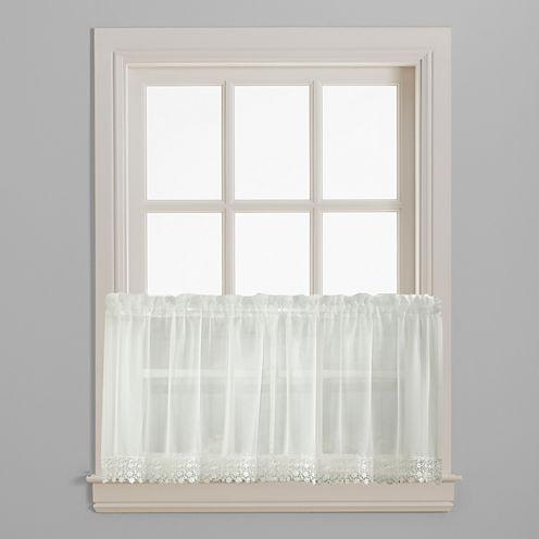 Ashlyn Voile Rod-Pocket Window Tiers