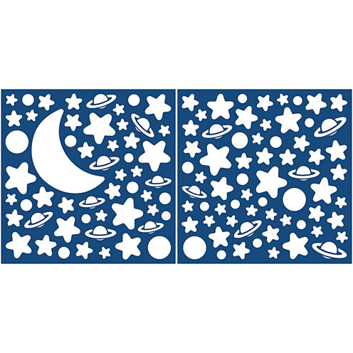 Deep Space Glow in The Dark Wall Decals