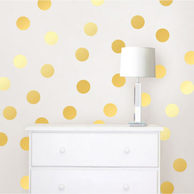 jcpenney.com | WallPops Gold Confetti Dots- Set of 128