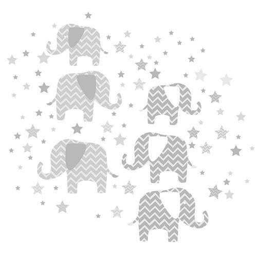 WallPops Elephants - A Ton Of Love Wall Art Kit