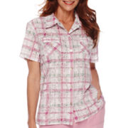 Alfred Dunner® Savannah Short-Sleeve Plaid Shirt
