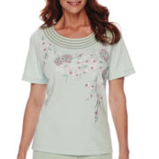 Alfred Dunner® Savannah Short-Sleeve Embroidery Top