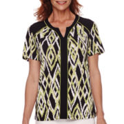 Alfred Dunner® Sao Paolo Short-Sleeve Printed Top
