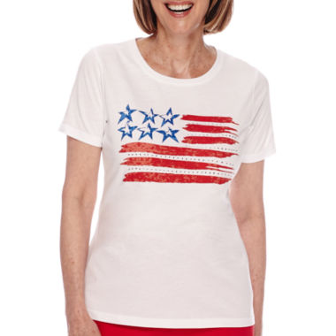 jcpenney.com | Sag Harbor® American Dream Short-Sleeve Flag-Print Top