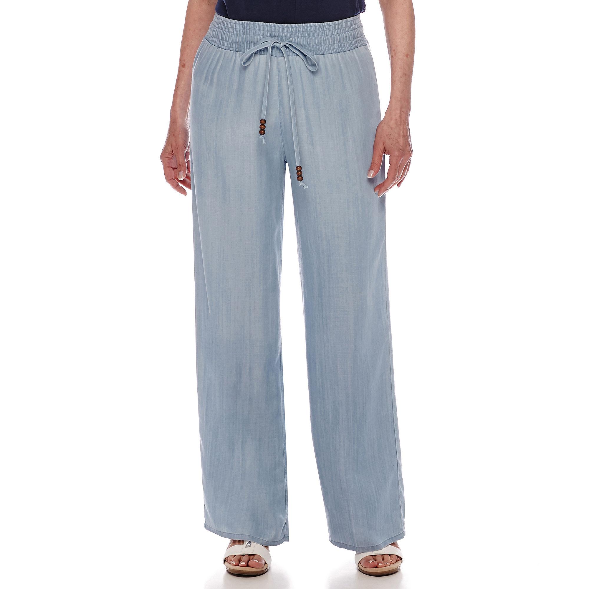 Sag Harbor Baby Blues Wide Leg Pants plus size,  plus size fashion plus size appare