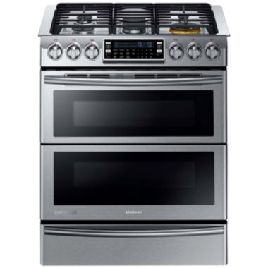 jcpenney.com | Samsung 5.8 Cu. Ft. Chef Collection Slide-In Dual Fuel Range with Flex Duo™  Oven and Dual Door