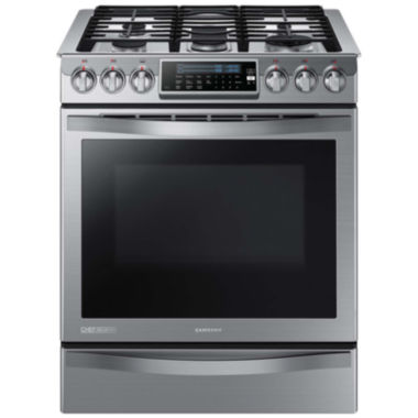 jcpenney.com | Samsung 5.8 Cu. Ft. Chef Collection Slide-In Gas Convection Range