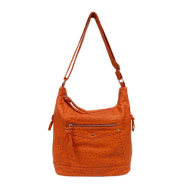 jcpenney.com | Bueno Washed Ostrich Double Zip Crossbody Bag