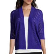 Worthington® Short Sleeve Open Front Cardigan