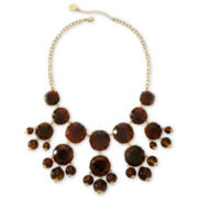 Liz Claiborne Gold-Tone Tortoiseshell Bubble Necklace