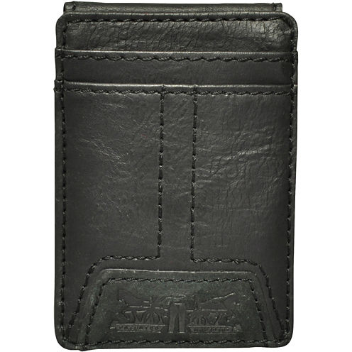 Levi's® Leather Front Pocket Wallet