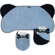 Bone-Shaped Pet Towel and Wash Mop Mitt