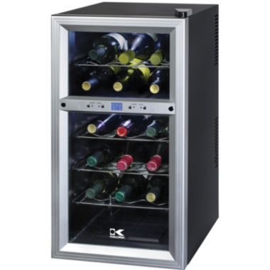 jcpenney.com | Kalorik 18-Bottle Dual-Temp Wine Cooler