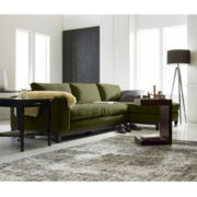 Calypso 2-pc. Chaise Sectional in Heavenly Fabric