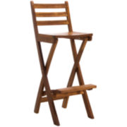 Tundra Foldable Outdoor Teak Barstool