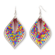 Arizona Threaded Multicolor Drop Earrings