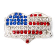 Carole I Heart America Stretch Ring