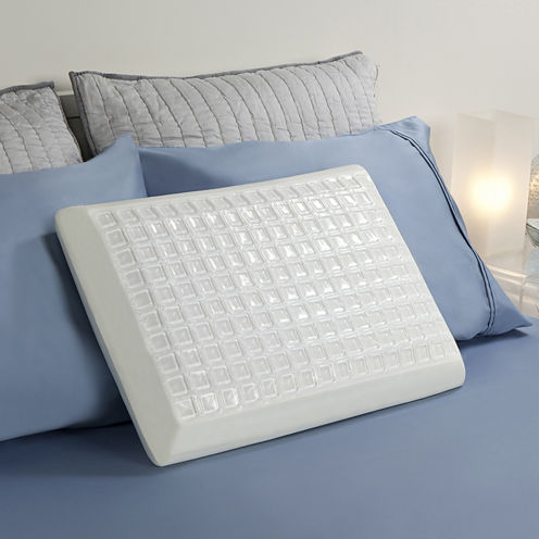 Comfort Revolution Cooling Cube Gel Memory Foam Pillow
