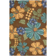 Nourison® Blooms Hand-Hooked Indoor/Outdoor Rectangular Rug