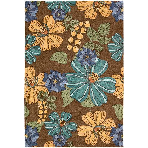 Nourison® Blooms Hand-Hooked Indoor/Outdoor Rectangular Rug