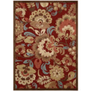 Nourison® Hastings High-Low Carved Floral Rectangular Rugs