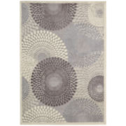 Nourison® Pinwheels High-Low Carved Rectangular Rug