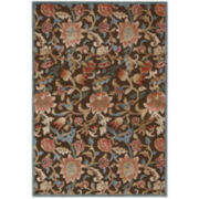 Nourison® Wilshire High-Low Carved Floral Rectangular Rug