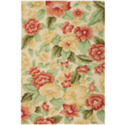 Nourison® Floral Infusion Hand-Hooked Rectangular Rug