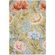 Nourison® Antiqued Garden Floral Hand-Hooked Rectangular Rugs