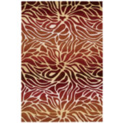Nourison® Ombré Stream Hand-Carved Rectangular Rug
