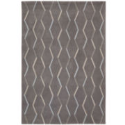 Nourison® Ripple Hand-Carved Rectangular Rugs