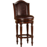 Gordon Upholstered Nailhead Swivel Barstool