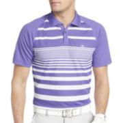 IZOD® Golf English-Striped Raglan Polo