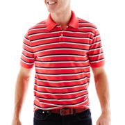 St. John's Bay® Legacy Striped Piqué Polo Shirt