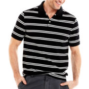 St. John's Bay® Striped Piqué Polo Shirt