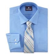 Stafford Shirt and Tie Set - Big & Tall