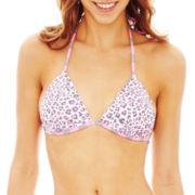 Arizona Animal Print Triangle Pushup Swim Top