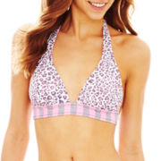 Arizona Reversible Banded Halter Swim Top - Juniors