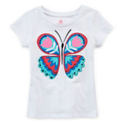 Okie Dokie® Embroidered Tee - Toddler Girls 2t-5t