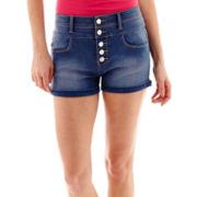 Sapphire Ink High-Waist Shorts
