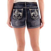 ZCO Embellished Back Pocket Denim Shorts - Plus
