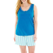 Liz Claiborne® Sleep Tank Top and Shorts Pajama Set - Plus